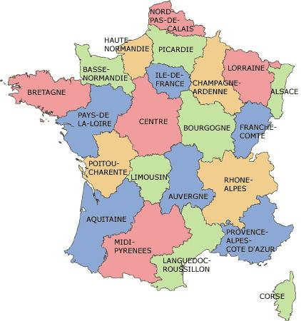Cartina Francia Con Citta.Anno Scolastico In Francia