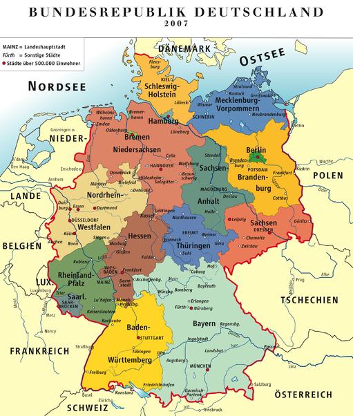 Cartina Germania Stoccarda.Anno Scolastico In Germania